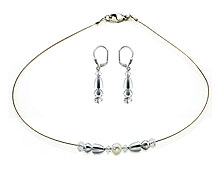 SWAROVSKI (R) crystals in combination with: BELLASIX (R) jewellery set_1830_k_1841_o 925 silver clasp wedding jewellery