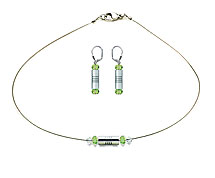 SWAROVSKI (R) crystals in combination with: BELLASIX (R) jewellery set_1834_k_1834_o 925 silver clasp green wedding jewellery